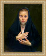 A Nun (canvas/oil, 60x50-93 y.) © Nikolai Shmatko