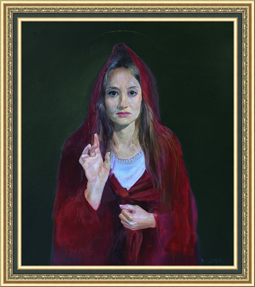 The Blessed Maria (canvas/oil, 86x75-2014 y.) © Nikolai Shmatko