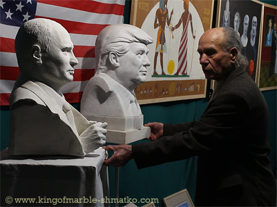Today the author presents the bust of the President of the Russian Federation Vladimir Putin.