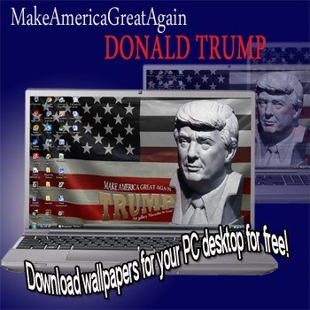 """Donald Trump, MakeAmericaGreatAgain"" – exclusive background images, desktop wallpapers for your PC, laptop, etc."
